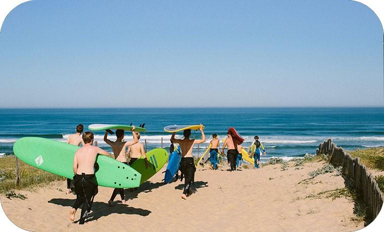 Les packs Surf + Hébergement
